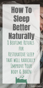 how to sleep better naturally