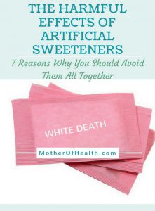 harmful effects of artificial sweeteners
