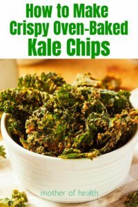 make crispy oven baked kale chips