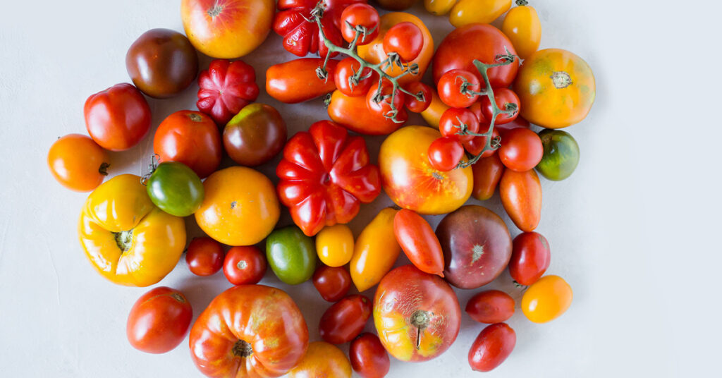 tomatoes and puffy eyes